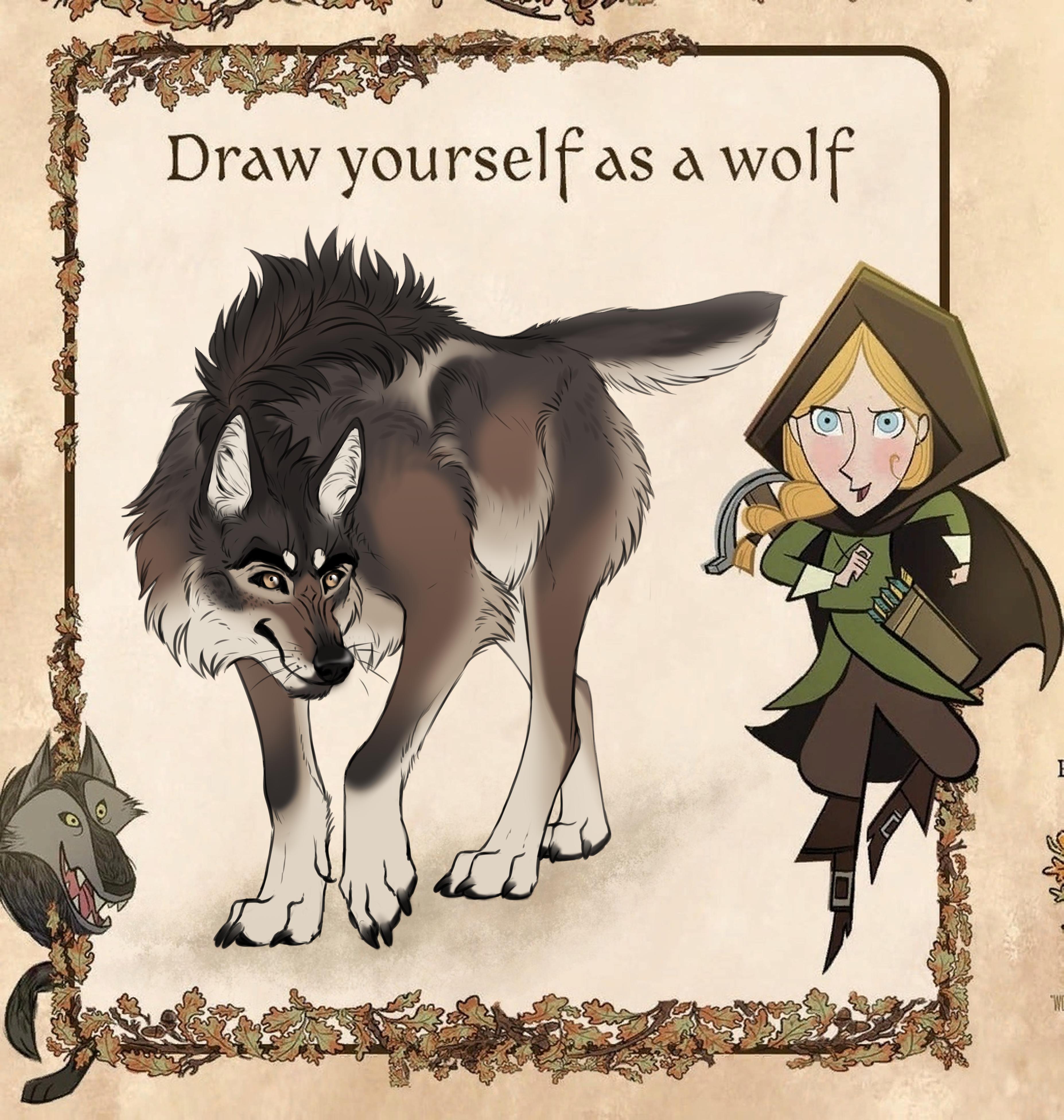 Draw Yourself As A Wolf By Haasap Gasko On Deviantart