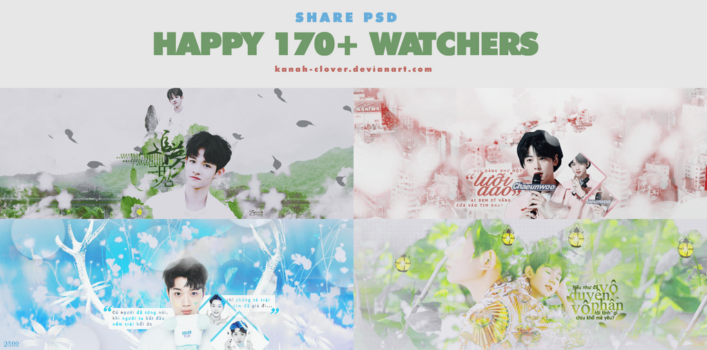 // 20171030 // Share PSD Happy 170+ Watchers by Kanah-Clover