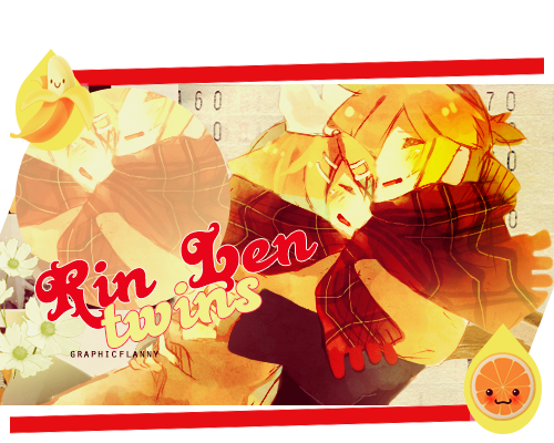 Pack de renders Kagerou Project. Kagamine_rin_and_len_by_graphicflanny-d70sz2p