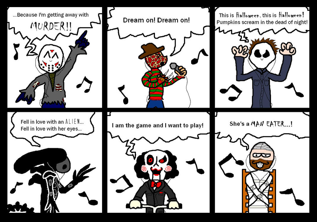 Horror Movie Music Madness by MrFacehug