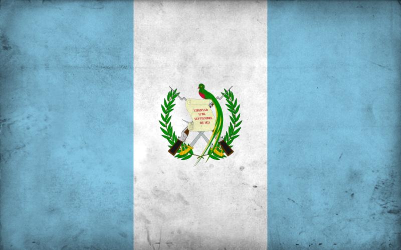 Grunge Flag of Guatemala by pnkrckr