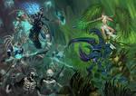 Warhammer age of Sigmar battlescene