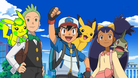 The Unova Trio with their partners -edit-