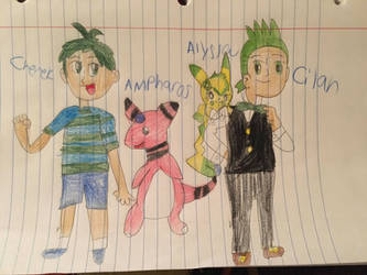 Cilan And Cherek: With Their Partners