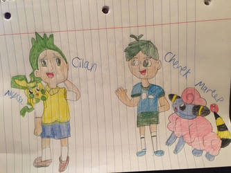Cilan And Cherek As Kids: With Their Partners