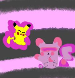 Psychichu - Fakemon - With Pikachu