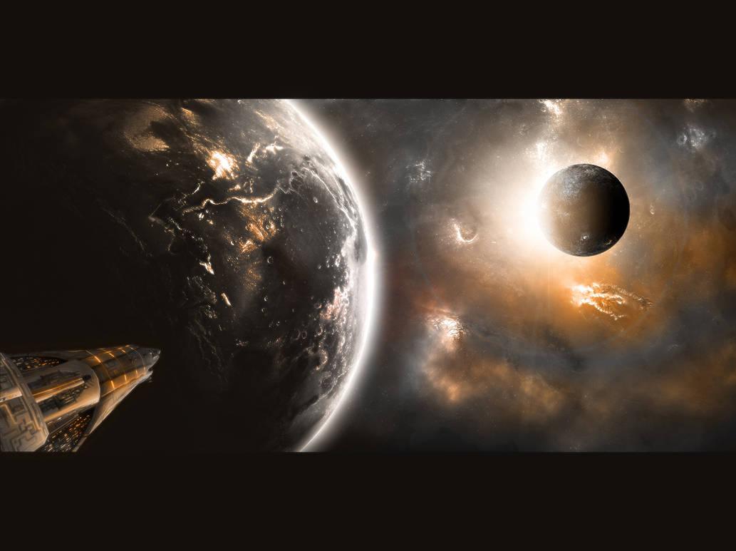 Somewhere in Space by Krzyzowiec