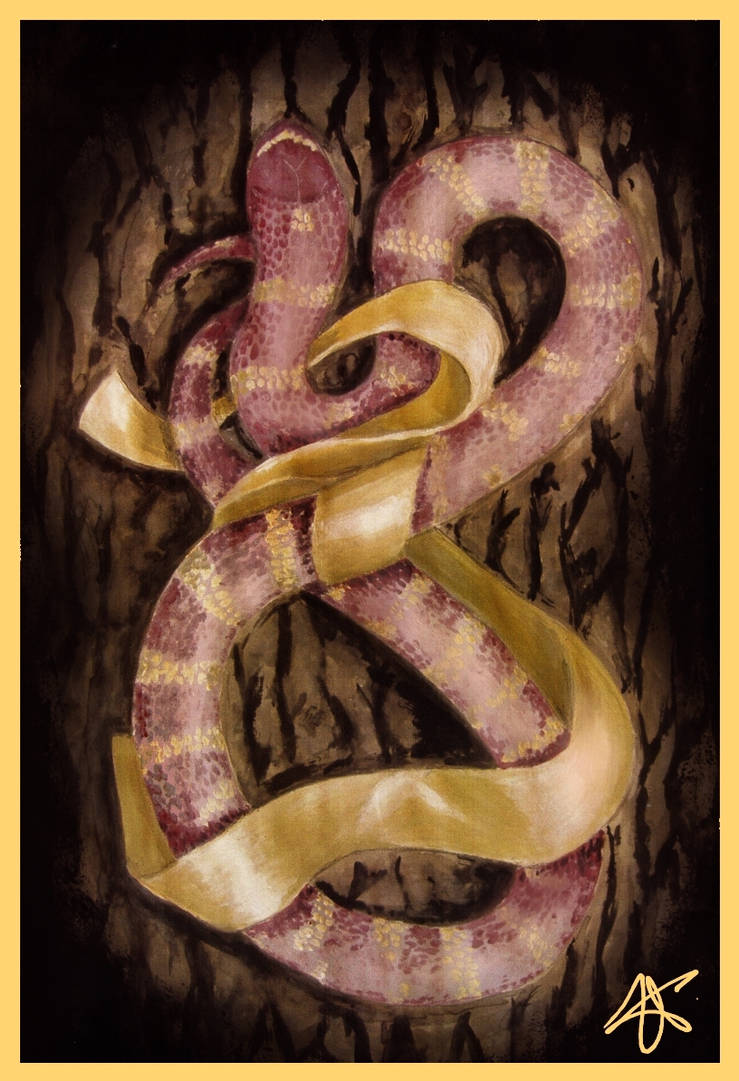 snake and the ribbon by beatingheartt