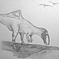 Dinovember #2: B is for Becklespinax by CMIPalaeo
