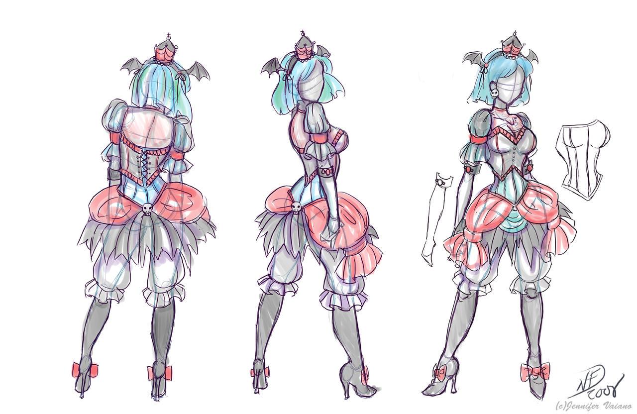 Lolita Devil Costume Design by NoFlutter