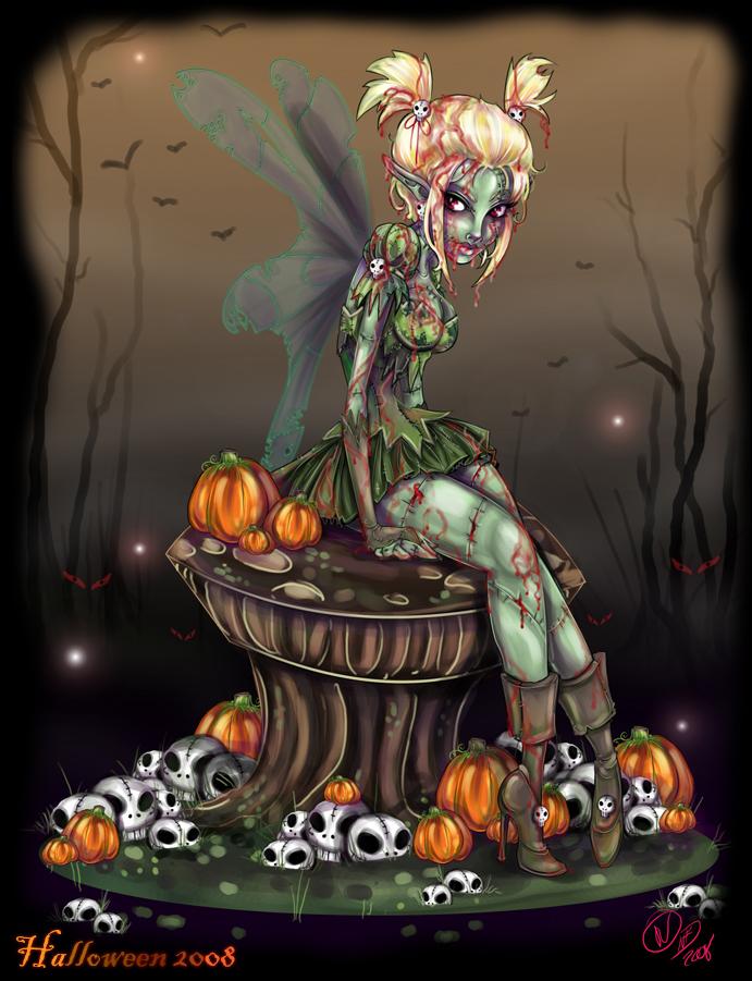 anime zombie princess: Zombie Tinkerbell By NoFlutter On DeviantArt