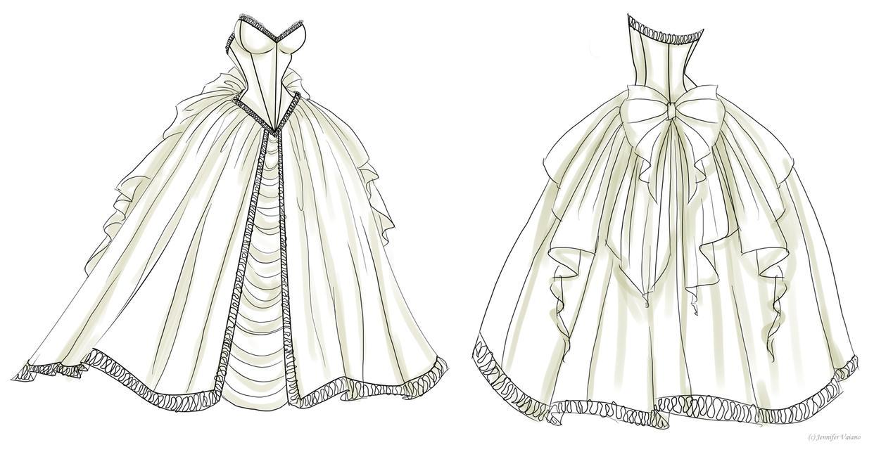 Wedding Dress Design 1 by NoFlutter