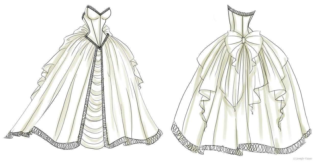 Wedding Dress Design 1 by NoFlutter on DeviantArt