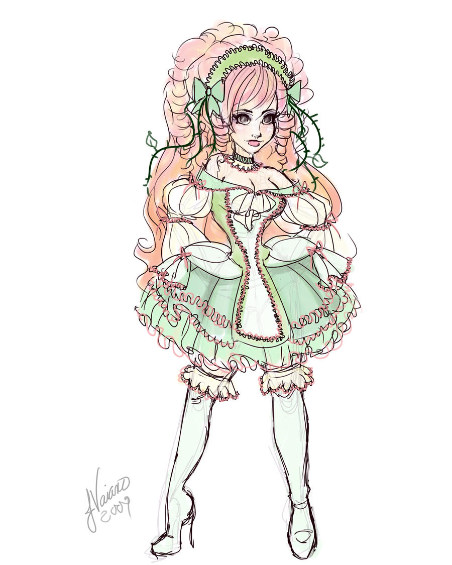 Lolita Sleeping Beauty Sketch By Noflutter On Deviantart
