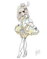 Lolita Cinderella Sketch by NoFlutter