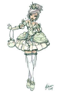 Pricess Tiana Lolita Sketch