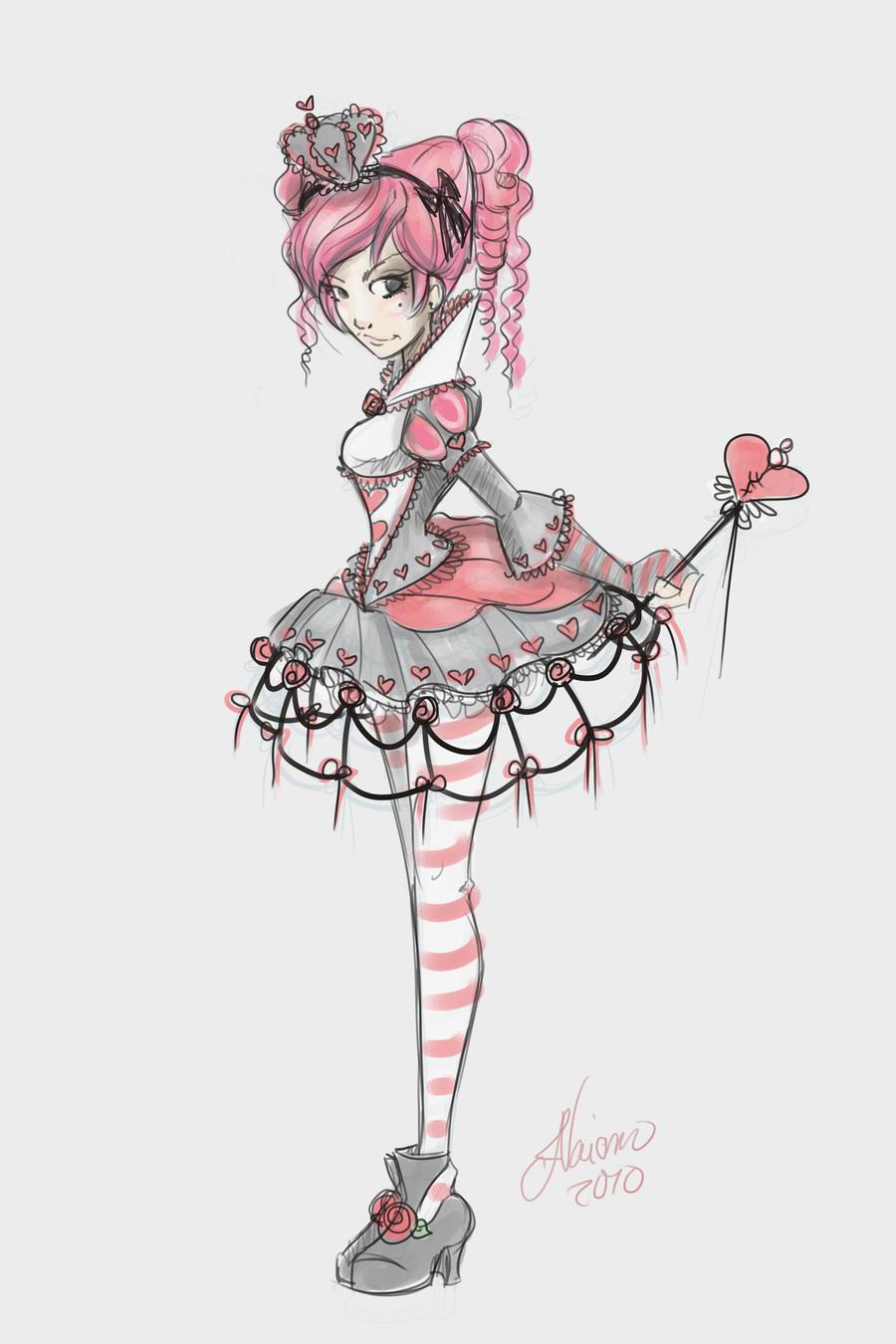 Lolita Teen Queen of Hearts by NoFlutter
