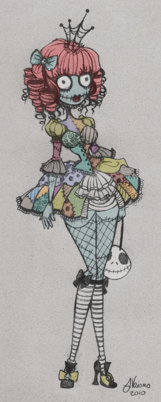 Lolita sally wip sketch by noflutter on deviantart for Tattoo nightmares shop appointment with jasmine