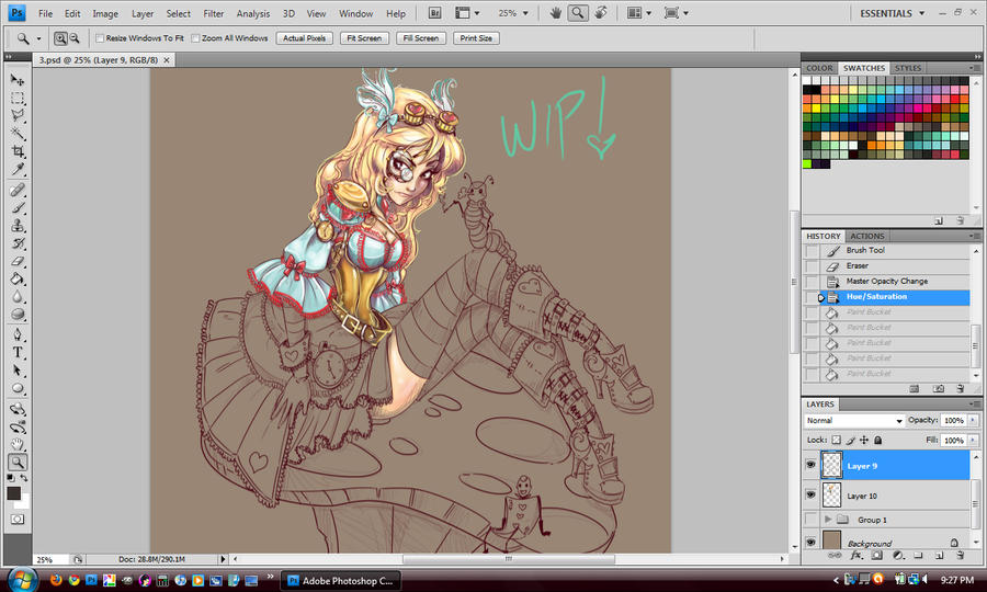 Steampunk Alice WIP by NoFlutter