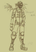 Steampunk Peter Pan Sketch by NoFlutter