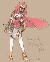 Steampunk Red Riding Hood by NoFlutter
