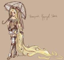 Steampunk Rapunzel Sketch