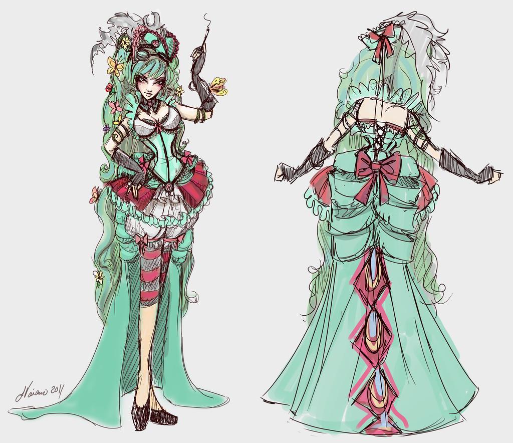 Caterpillar Costume Sketch