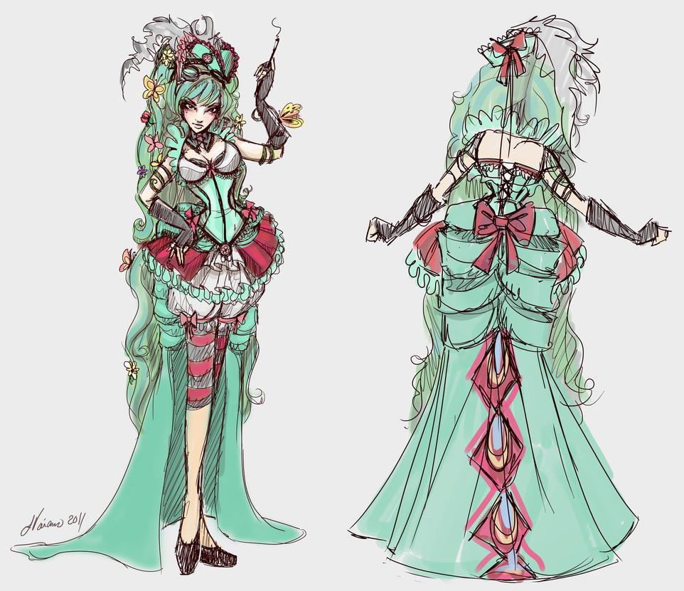 Caterpillar Costume Sketch by NoFlutter