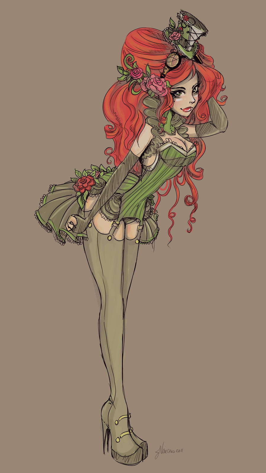 Alternate Victorian Ivy Sketch by NoFlutter