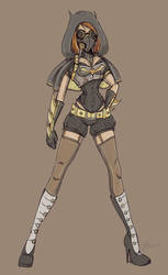 Alternate Batgirl Sketch by NoFlutter