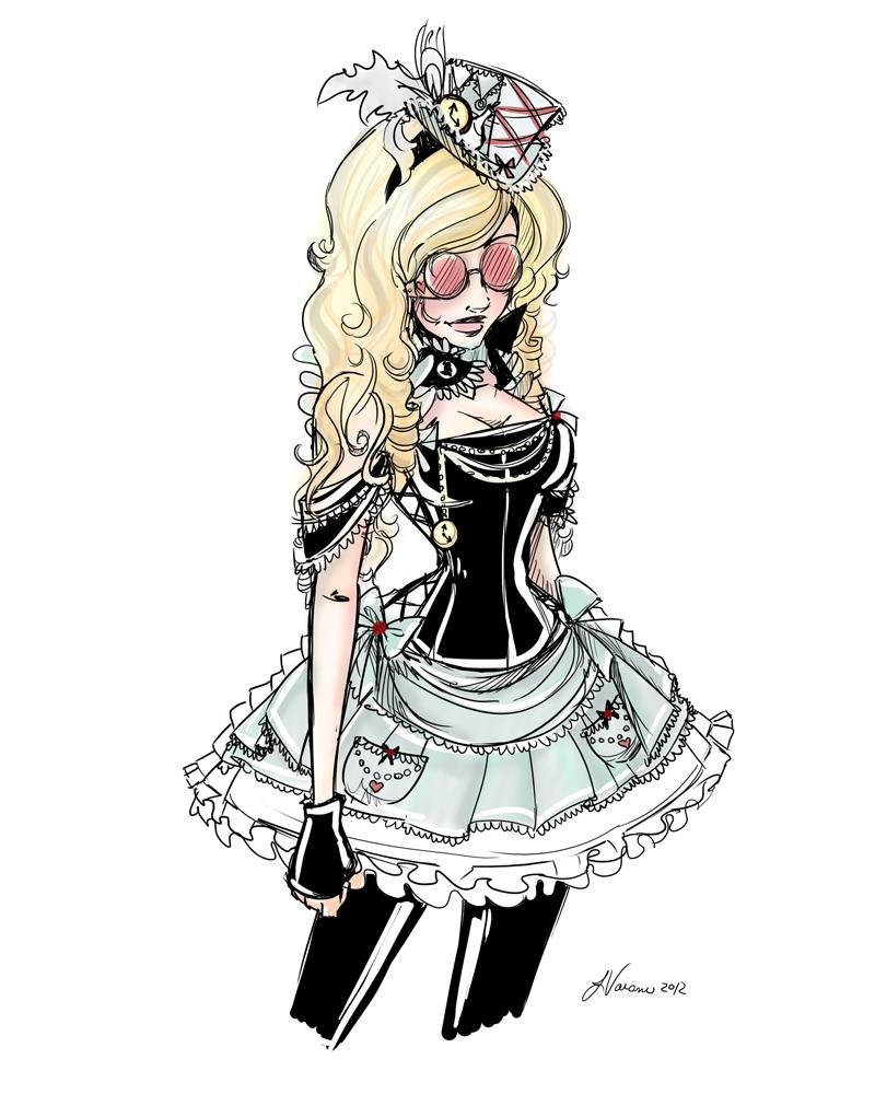 Steampunk Alice Costume Idea 2012 by NoFlutter