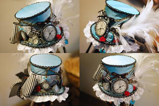 Steampunk Alice Mini Top Hat