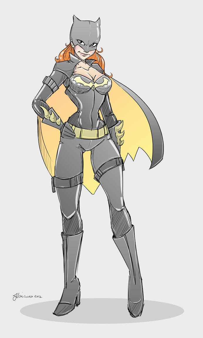 Clean Batgirl Design Sketch by NoFlutter
