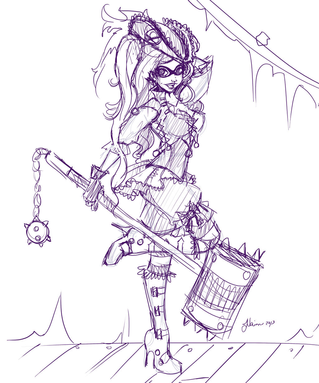 Pirate Harley Sketch by NoFlutter