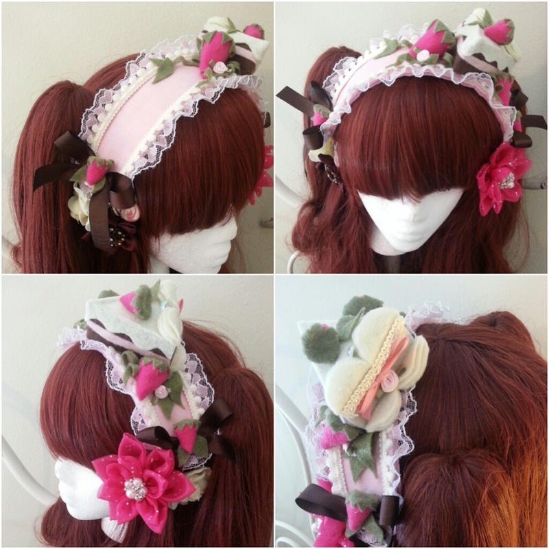 Strawberries and Chocolate Cake Headband by NoFlutter