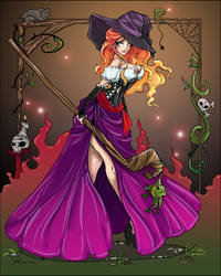 Dragon's Crown Sorceress by NoFlutter