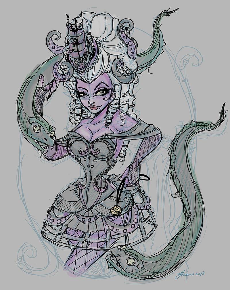 Steampunk Ursula layout Color by NoFlutter on DeviantArt
