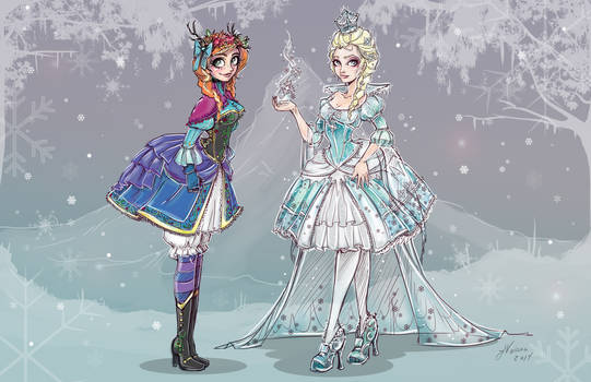 Frozen Characters Lolita Style