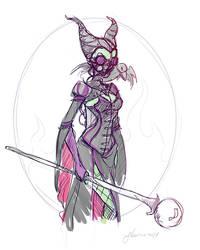 Steampunk Maleficent Sketch Idea by NoFlutter