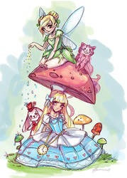 Alice and the Fairy by NoFlutter