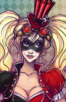 Steampunk Harley Quinn Portrait