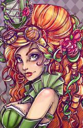 Steampunk Ivy Portrait