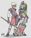 Genderswap Harley and Joker Sketch Idea