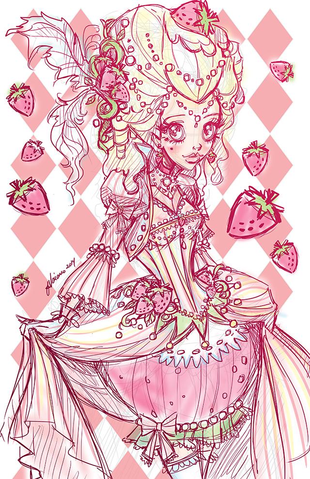 Sneak Peek Strawberries And Cream sketch by NoFlutter