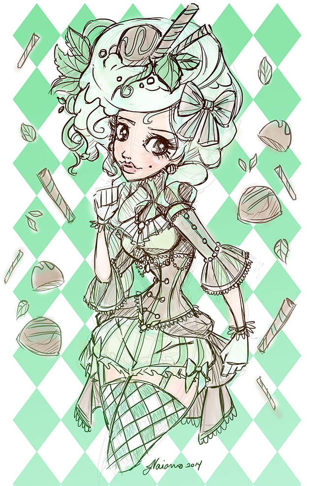 Mint Chocolate Sketch by NoFlutter