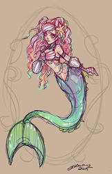 The Little Mermaid Sketch by NoFlutter