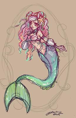 The Little Mermaid Sketch