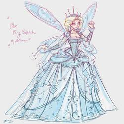 Blue Fairy Sketch by NoFlutter