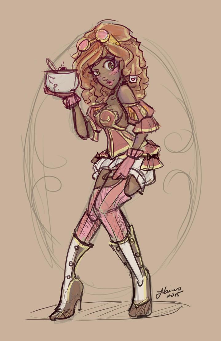 Miss Muffet Sketch by NoFlutter