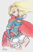 Super Girl Sketch by NoFlutter